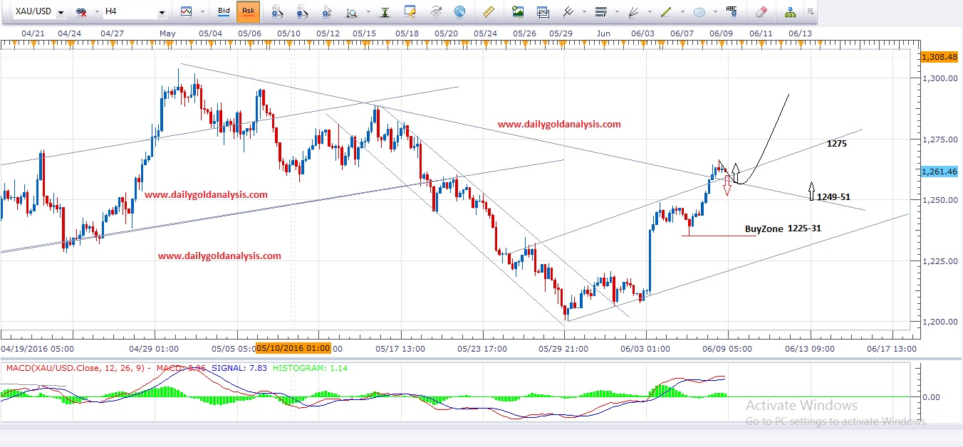 Hourly Gold Chart