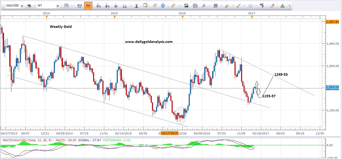 16th January Weekly Gold price Today Chart